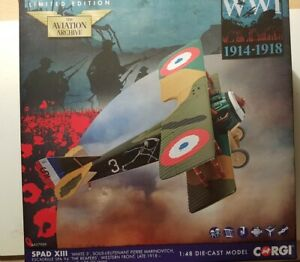"Used Boxed But Complete Corgi 1:48th SPAD XIII ""Grim Reapers"" Model."