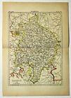 WARWICK-ENGLAND PARLIAMENTARY DIVISIONS Antique original map 1895