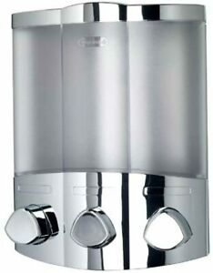 Croydex Euro Soap Dispenser Chrome, Easy To Install Wall Mounted Pump Dispenser