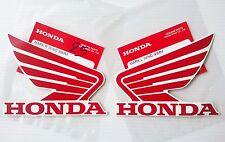 Honda Ala Tanque De Combustible Pegatina Alas 2x 95mm Rojo & Blanco 100% GENUINE