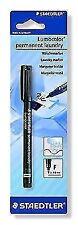 Staedtler Lumocolor Permanent Laundry Marker Pen Fine Point Black Ink X 1 Single