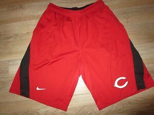 Cincinnati Reds MLB Spring Training Running Nike Shorts LG L