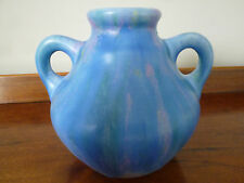Art Deco Beswick Double Handled Vase Pattern No. 40 - Blue Lilac Art Glaze