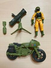 Gi Joe Airtight action figure, Ram Cycle, other accessories - 1985 vintage