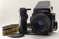 【NEAR MINT+++】Bronica GS-1 + AE Finder, ZENZANON-PG 100mm F3.5,Grip  From Japan