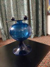 Vase Murano Glas, etwa 60er Jahre, etwa Pauly & Co, intensive blaue Farbgebung