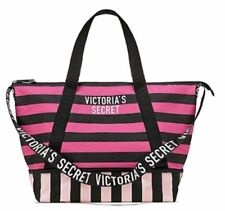 Victoria's Secret Expandable Weekender Tote Bag, Pink and Black Stripe