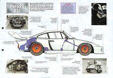 Porsche 935 Coupé 6 Cylindres Allemagne Germany 1976 Car Auto FICHE FRANCE