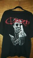 VTG rare - T shirt OZZY OSBOURNE-cd-lgo-MIDDLE-FINGER Xl