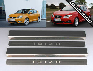 Seat Ibiza 4 Door (2008 - Early 2017) Stainless Sill Protectors / Kick Plates