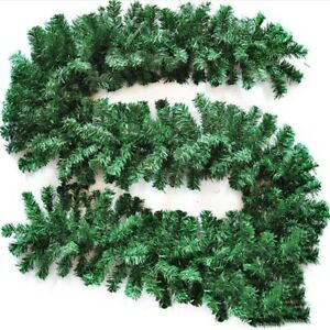 9Ft Christmas Garland Decorations Fireplace Artificial Wreath Pine Green Xmas