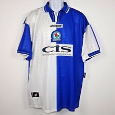 Uhlsport Blackburn Rovers FC 1998 - 2000 Home Football Soccer Jersey Men's XL