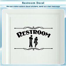 Bathroom Restroom Toilet Door Sign Art Vinyl Home Decor Wall Sticker Decal S118