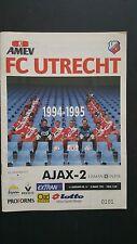 Programme / Programma FC Utrecht v Ajax 2 08-03-1995 Dutch Cup Semi-Final