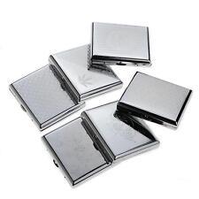 Etched Metal 20 Cigarette Case Tobacco Cigarette Holder Comtainer Box Silver Hot
