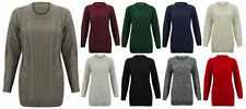 Cotton Crewneck Solid Jumpers & Cardigans for Women
