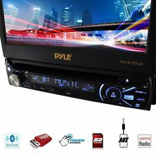 "Pyle Bluetooth 7"" LCD Motorized Touchscreen Car Stereo CD DVD MP3 Player USB/SD"