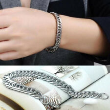 Stainless Steel Unisex's Link Chain Bracelet Wristband Cuff Bangle Jewelry Punk