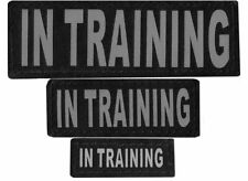 IN TRAINING  Patch Reflective Extra Label Tag for Dog Harness Service