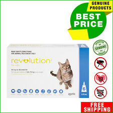 Revolution for Cats Blue Pack 2.6 - 7.5 Kg 6 Pipettes by Zoetis AU Shop