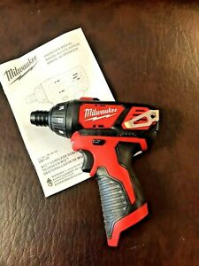 "NEW Milwaukee 2401-20 1/4"" Hex Cordless Screwdriver M12 12V Li-Ion"