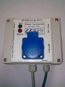 ES 230out/grST/H - IP 54 Pumpensteuerung, Niveausteuerung ,Entwässerung mit Hupe