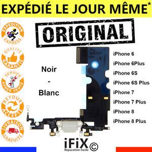NAPPE DOCK CONNECTEUR DE CHARGE ORIGINAL IPHONE 6 6S 7 8 PLUS X NOIR BLANC