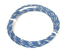 16 ga GAUGE GXL AUTOMOTIVE HIGH TEMP COPPER WIRE - 25 FT - BLUE W/ WHITE STRIPE