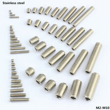 STAINLESS GRUB SCREWS CUP POINT HEX SOCKET SET SCREW M2-M10 10-10000Pcs x