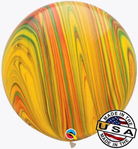 """HUGE 30"""" Traditional Agate QUALATEX Balloon Latex Balloon Decoration Marbled"""