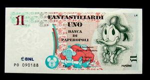 1997 Italy DISNEY banknote Donald Duck 1 Fantastiliardo UNC