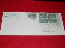 1939 ROYAL TRAIN POSTMARKED OTTOWA STAMP POST BLOCK 5 STAMP.GREAT COND.********