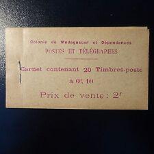 FRANCE COLONIE MADAGASCAR CARNET N°2 (20 VALEURS) NEUF ** MNH COTE 200€