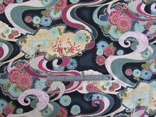 "Japanese fabric, ""DANCING CRANES ""  for Paintbrush Studio metre pieces"