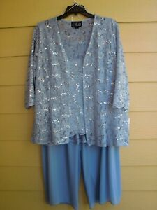 ELEGANT by ALEX Evenings ~ Size 3X ~ 3 Piece SPARKLY Outfit~SR $250 ~ Hydrangea