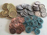 Falce Metallo Monete Accessori