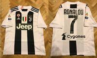 5+/5 KIDS Juventus #7 Ronaldo 2018/2019 Home Boys M Adidas shirt jersey 11-12Y