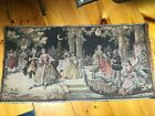 Vintage Antique Belgium made Pictorial Tapestry