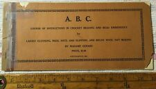 Antique A.B.C. Madame Gerard 1921 Crochet Beading & Bead Embroidery Booklet !!