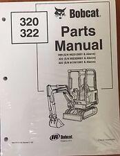 Bobcat 320  322 Series Parts Catalog Manual - Part Number # 6900165