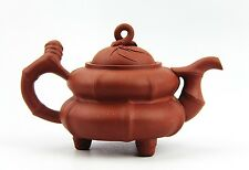 CHINESE YIXING ZISHA CLAY ARTISTIC RED TEAPOT AND COVER EXCELLENT! NEW # 26