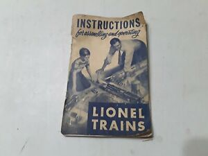 1950 Lionel Instructions for Assembling and Operating Lionel Trains original