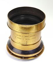 "18"" F4.5 Taylor Hobson TTH Cooke Series II Brass Portrait Lens Soft Focus 11x14"