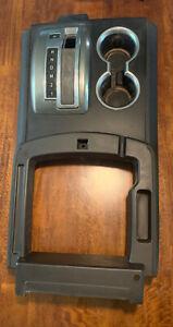 2008 2009 H2 Hummer Center Console Floor Shifter Top Cup Holder Black Shift