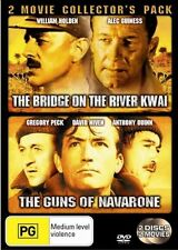 Bridge On The River Kwai - The Guns of Navarone 2-Disc Set Region 4 DVD VGC