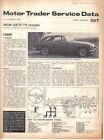 MG MGB 1971-72 model Motor Trader Service Data No. 507 1971