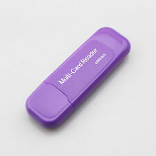 All In 1  Memory Card Reader USB 2.0 Multi Micro SD Mini SD TF M2 Flash  Purple