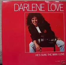 "DARLENE LOVE ~ HES Sure the man i love ~ 12"" SINGLE PS"