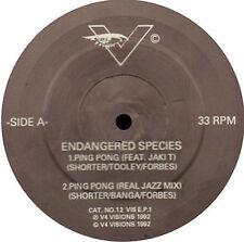 Endangered SPECIES En voie de disparition Music 1992 V4Visions 12 VIS E.P.1 Uk