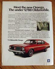 1973 Oldsmobile Omega Ad The Under $2700 Oldsmobile